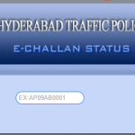 Hyderabad traffic challan status enquiry pending e- challan Cyberabad