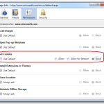 how to block/disable/clear cookies in firefox, chrome, internet explorer, safari