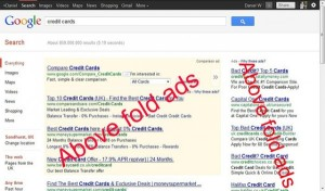 google above fold algorithm