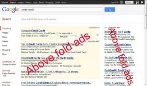 google above fold algorithm