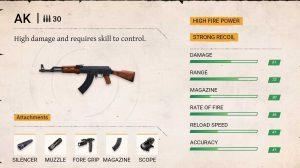 Free fire ak gun damage
