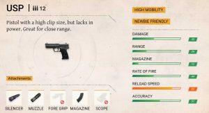 Usp pistol freefire