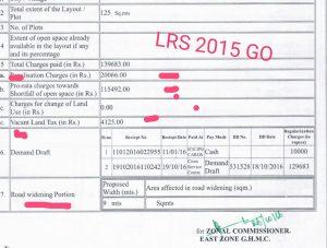 LRS charges telangana-lrs-calculator