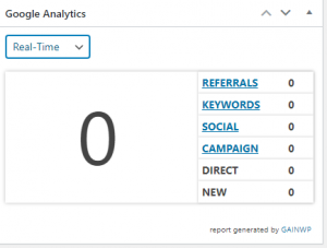 real time analytics in wordpress
