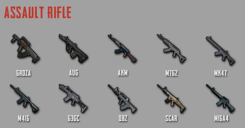 pubg mobile assault rifles ar damage