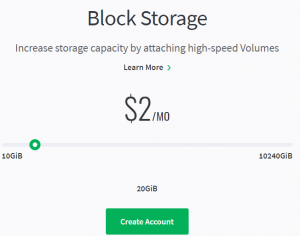 linux block storage pricing for 10gb